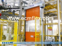 Roll-up doors combined with conveyor systems