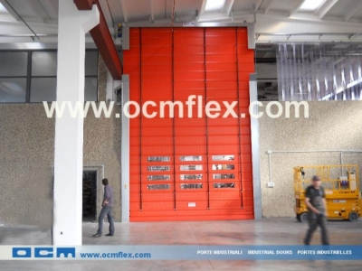 Pack-away doors for overhead crane
