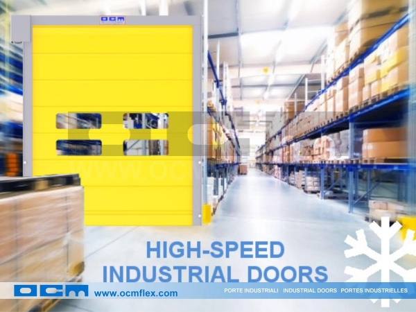 High speed door for cold rooms